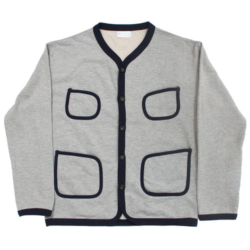 Basic Button Up Pocket Line Cotton Cardigan 003