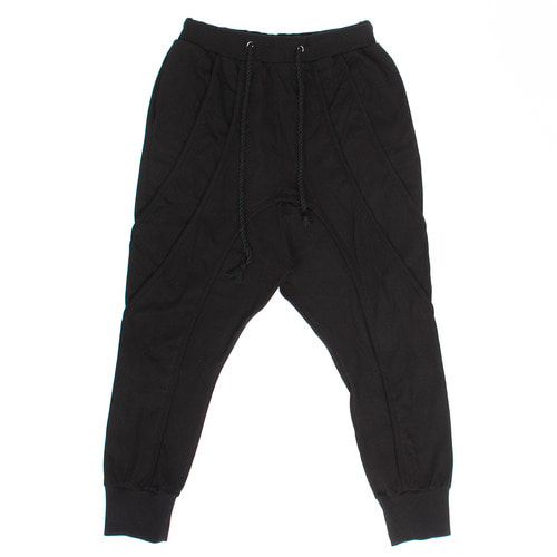 Rope Strap Low Crotch Baggy Jogger Pants