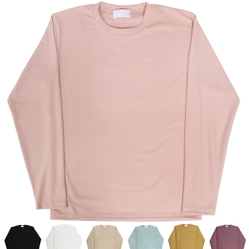 Loose Fit Pastel Tone Basic Color Tee 012