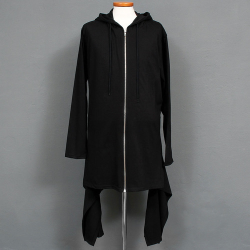 Avant garde Side Tail Zip Up Long Hoodie 004