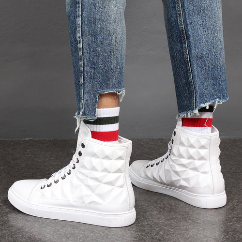 Color Stripe Ankle Sportive Socks S3
