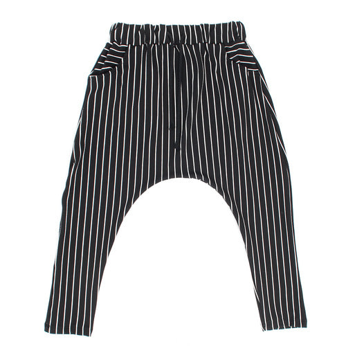 Drop Crotch Striped Pattern 3/4 Baggy Sweatpants 036