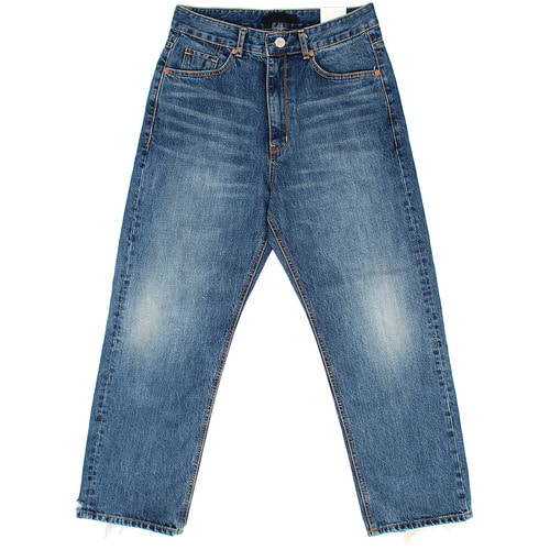 Loose Wide Fit Faded Blue Jeans