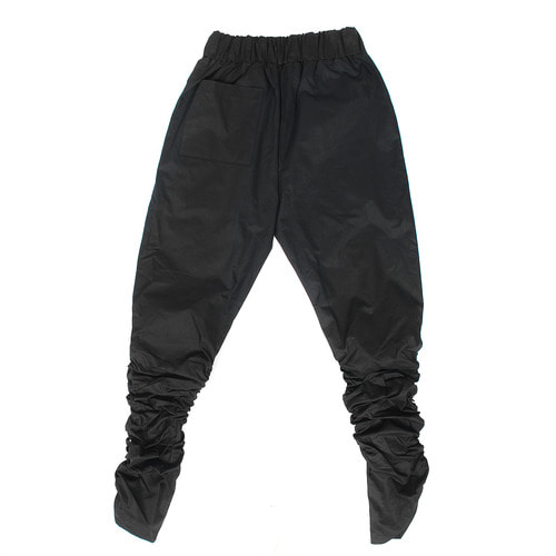 Shirring Wrinkle Zippered Hem Jersey Sweatpants 042
