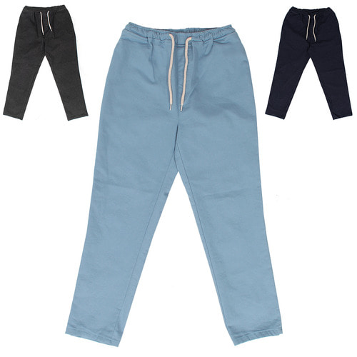 Stretchable Elasticized Waistband 4/5 Denim Pant