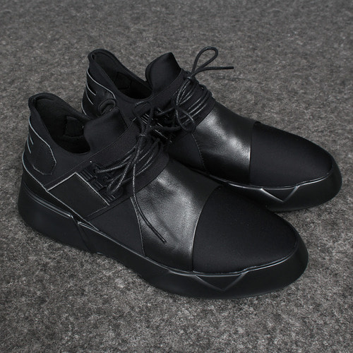 Neoprene Leather Combi Runner Sneakers 009