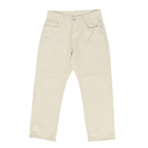 Standard Fit Beige Denim 4/5 Pants