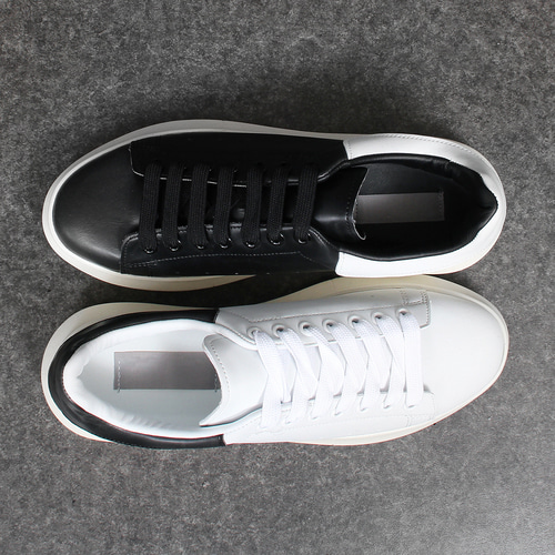 4cm Rubber Sole Back Contrast Color Sneakers