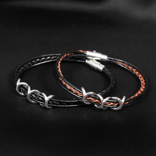 Triple X Leather Strap Bracelet B221