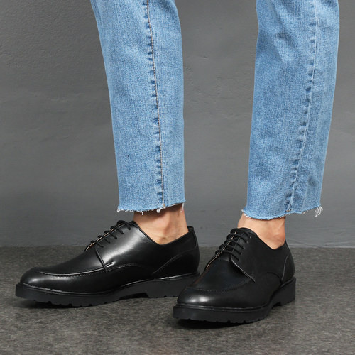 Synthetic Leather Oxford Split Toe Shoes 001