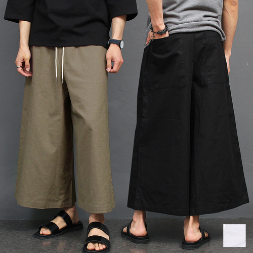 Linen Oversized Wide Baggy Sweatpants 003