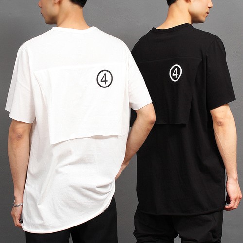 Number 4 Printing Flap Boxy Short Sleeve Tee 264
