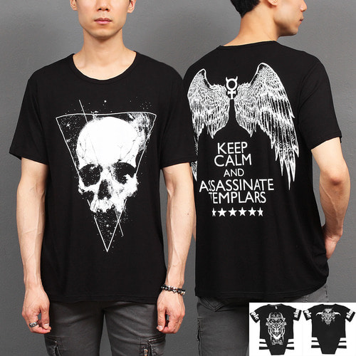 Gothic Graphic Printing Short Sleeve Tee 291