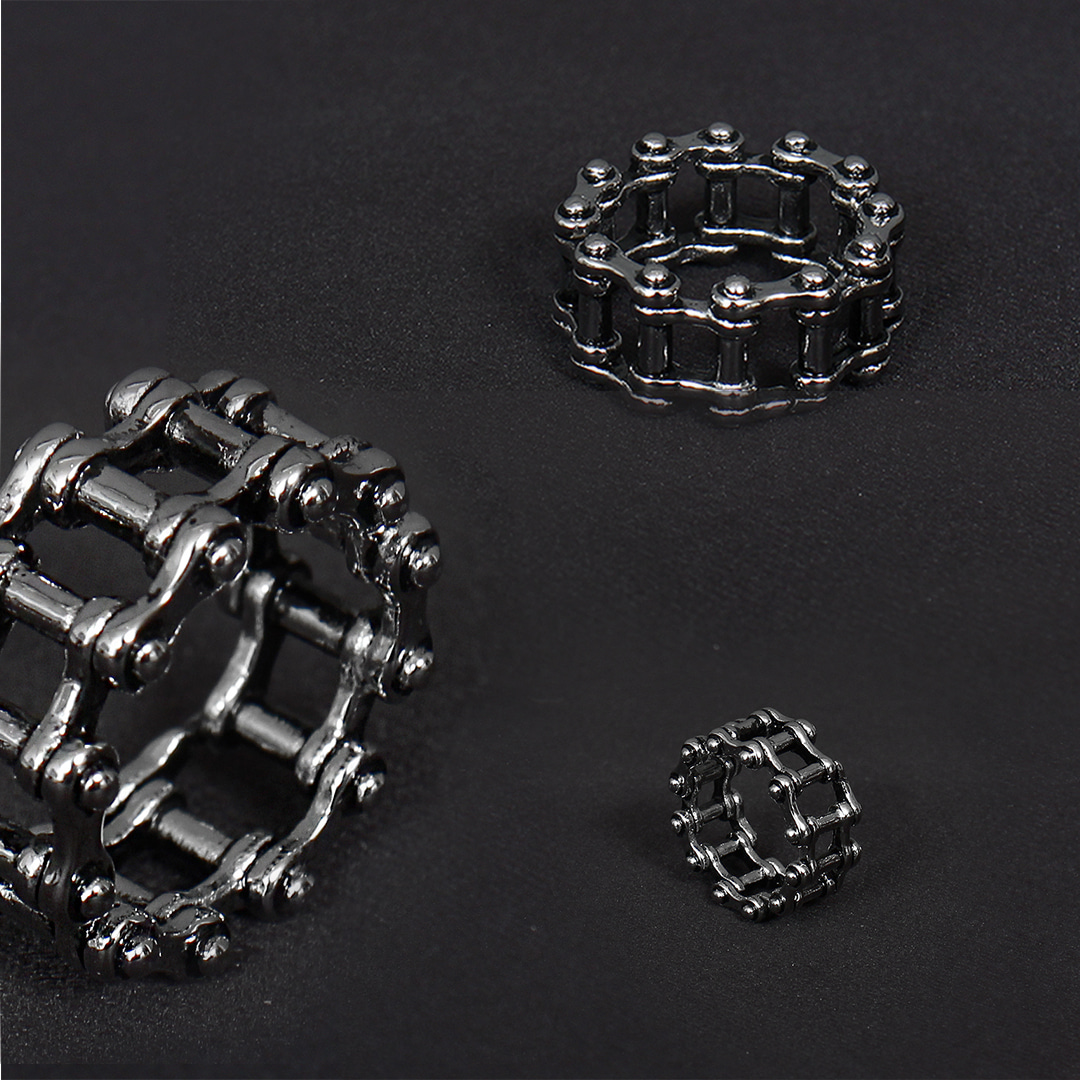 Chain Wheel Surgical Stainless Steel Ring R52