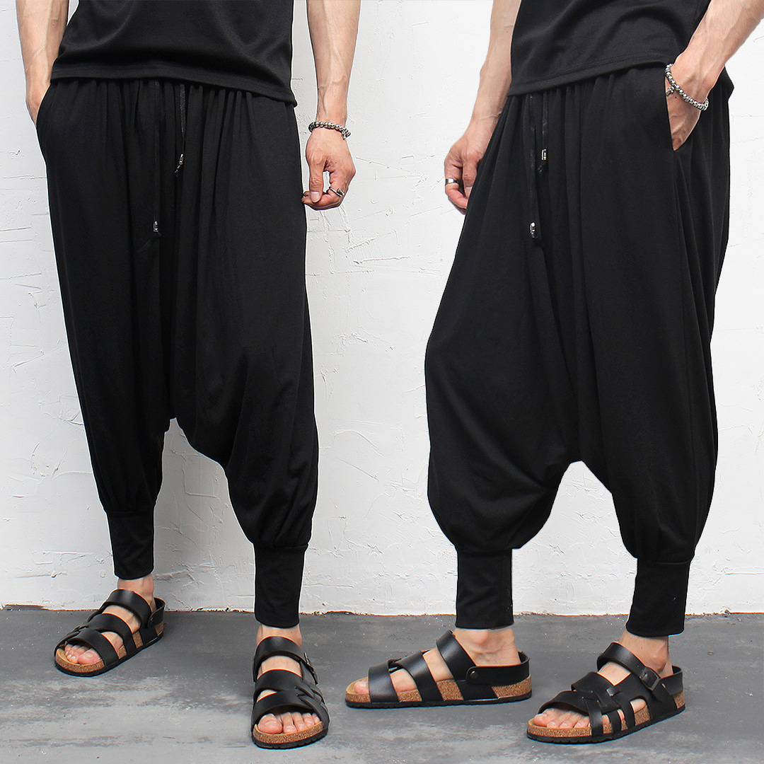 Avant garde Drop Crotch Wrinkle Harem Jogger Pants 006