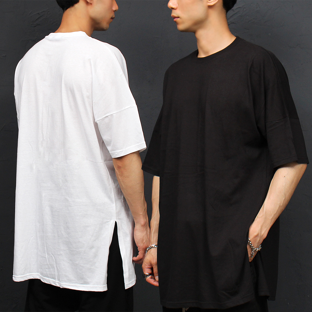 Split Side Oversized Big Over Loose Fit Boxy Tee 325