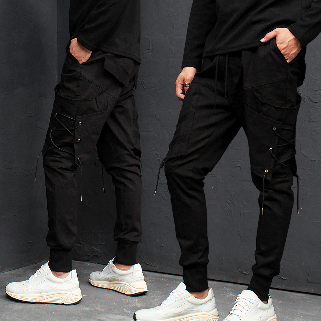 Techwear Eyelet Cargo Pocket Jogger Pants 011