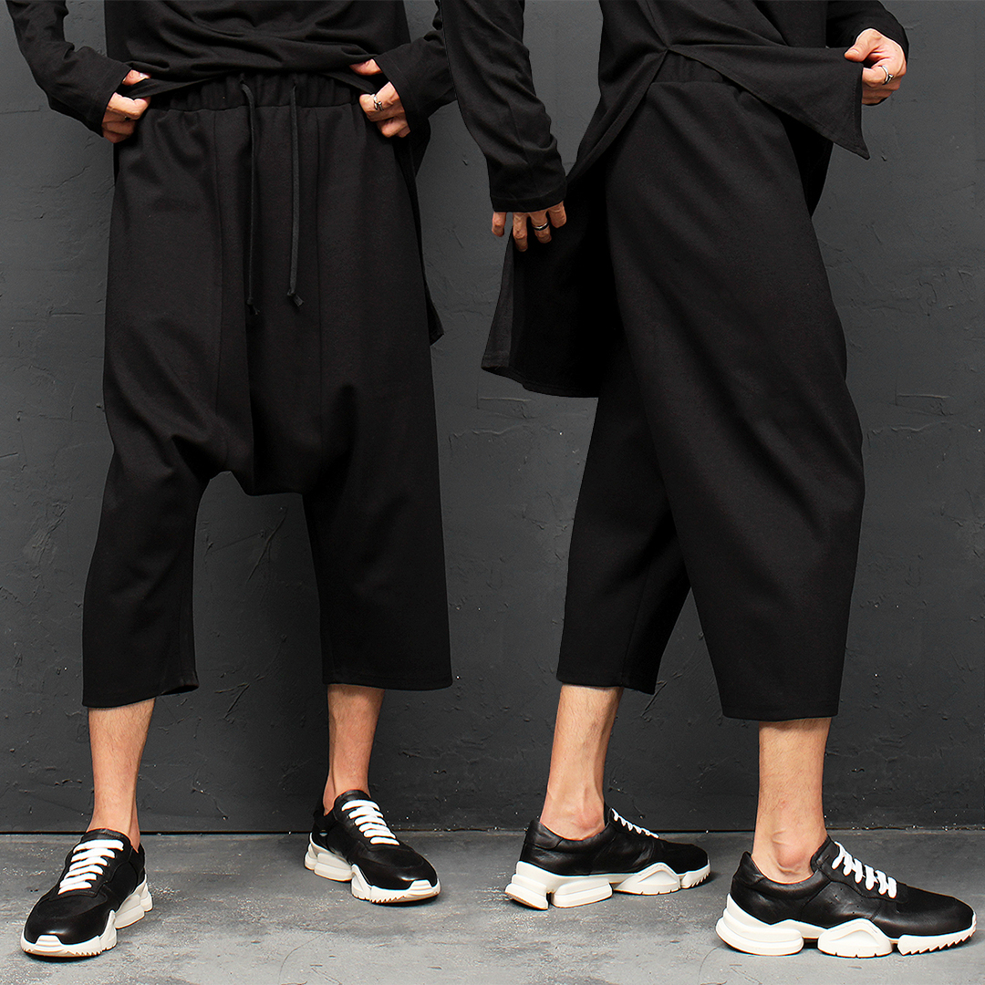 Avant garde 3/4 Drop Crotch Baggy Sweatpants 116
