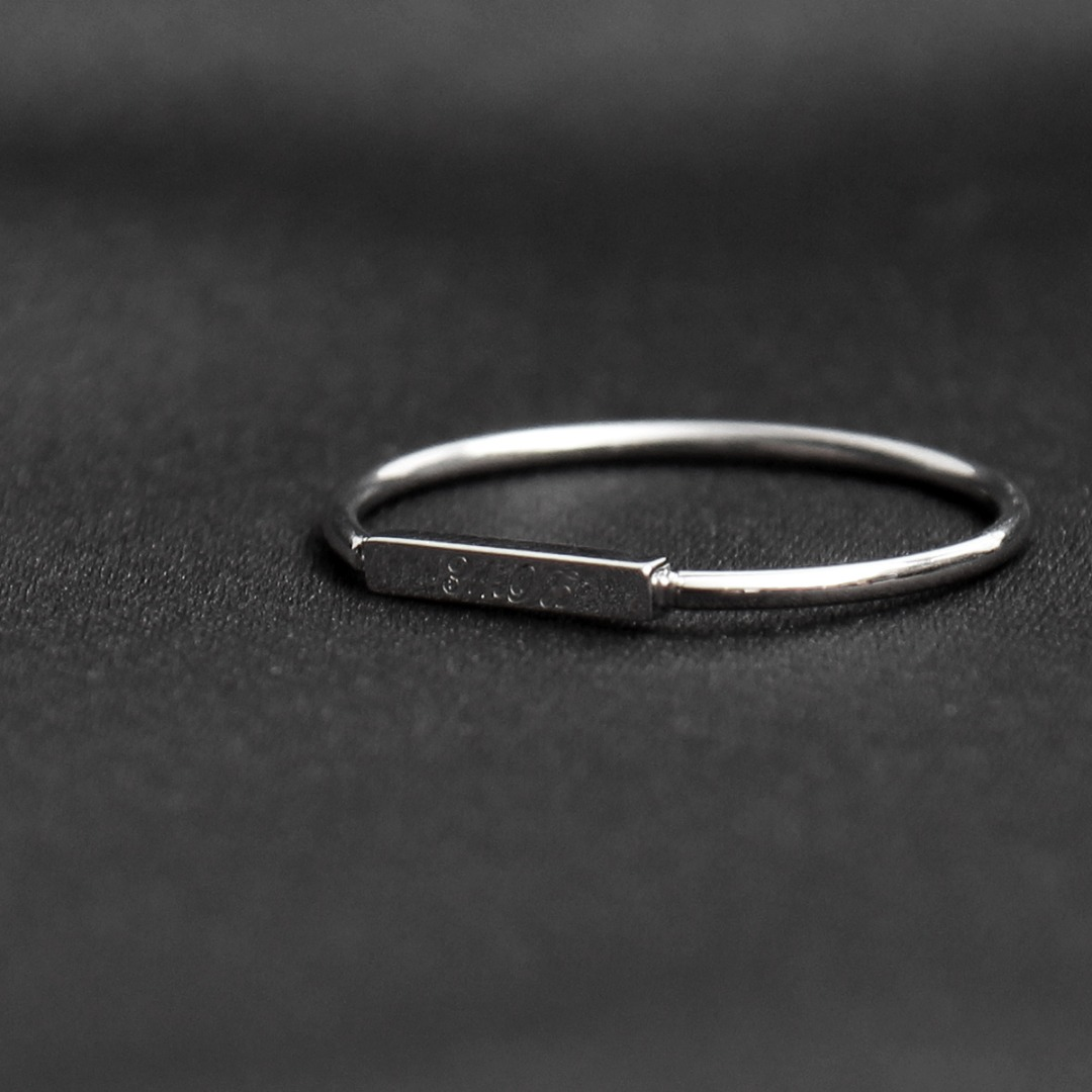 'Love' Engraved Thin Surgical Stainless Steel Ring R80