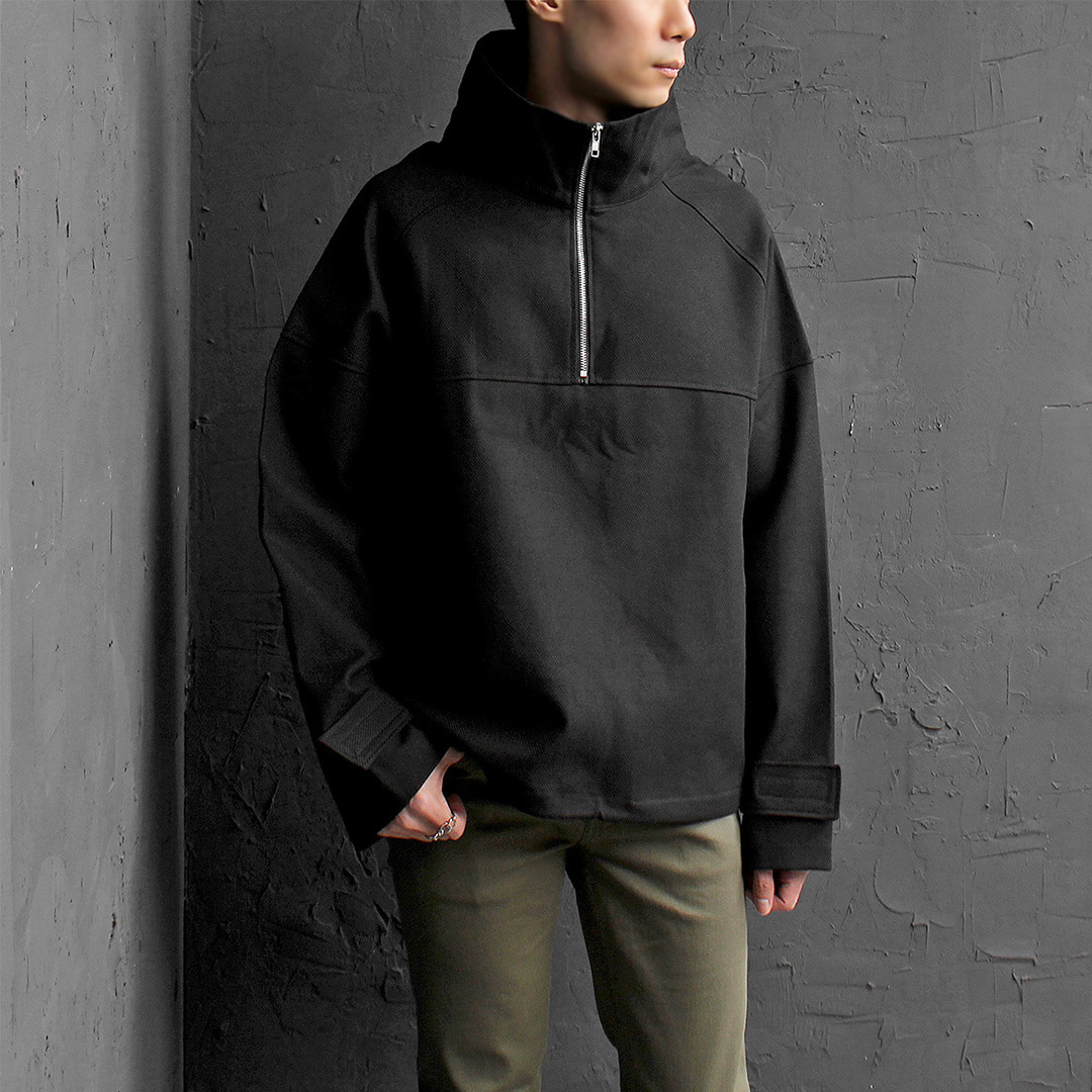 High Neck Half Zip Up Anorak Jacket 072