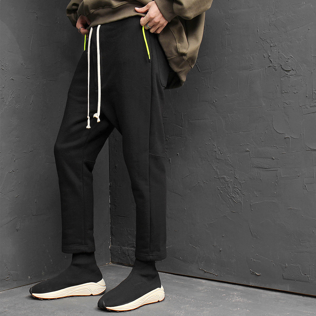 Drop Crotch 4/5 Ankle Length Baggy Sweatpants 163