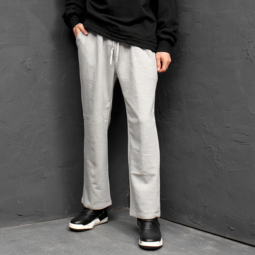 Elastic Waist Wide Straight Basic Sweatpants 185