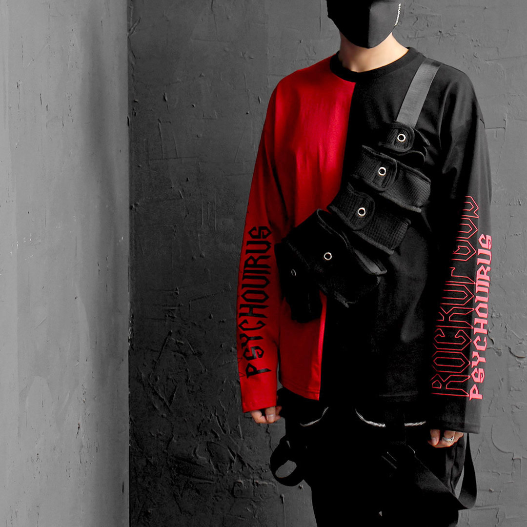 Techwear Look Webbing Strap Buckle Belt Multi Pocket Bag 020
