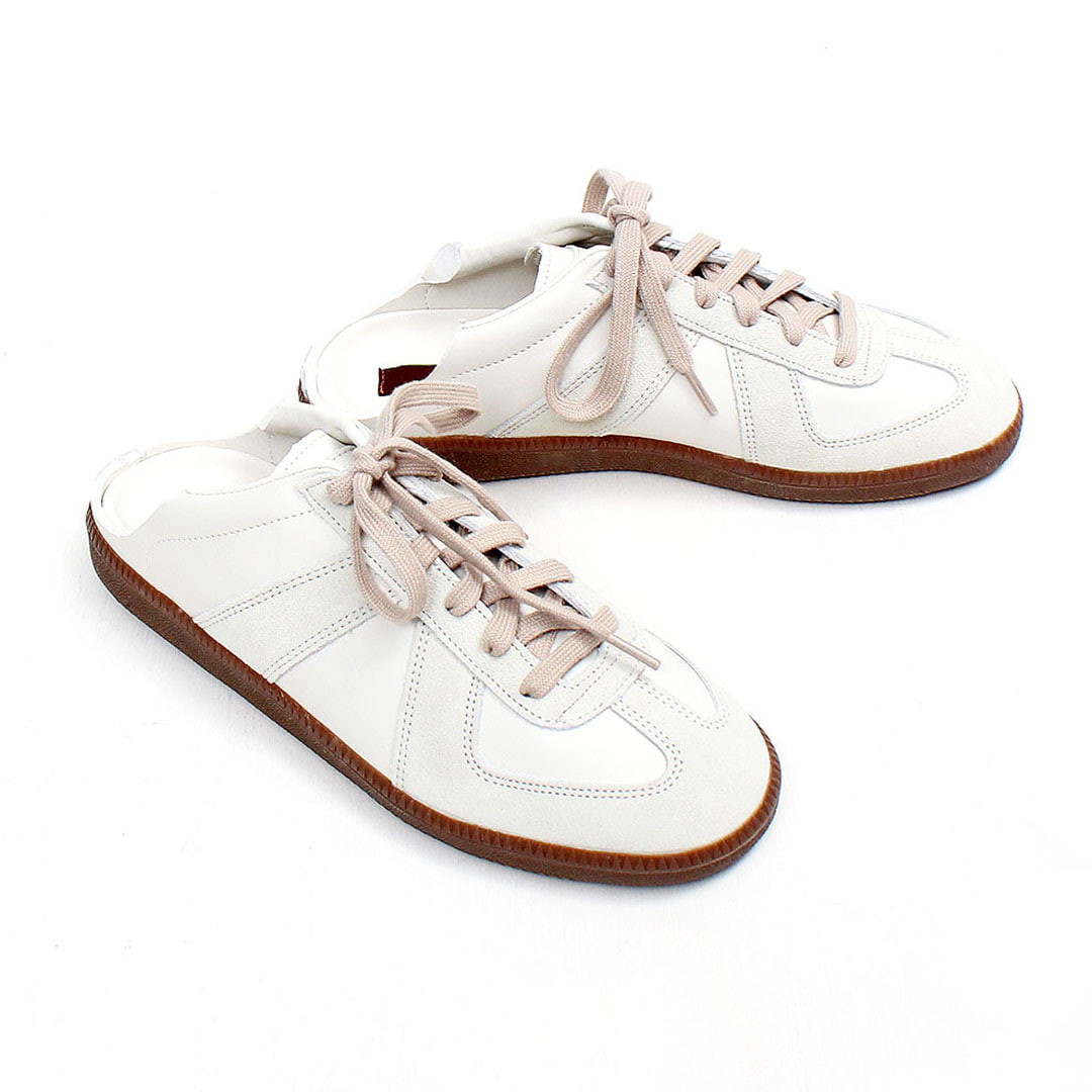 Suede Leather Combi Mule Bluffer Sneakers 107