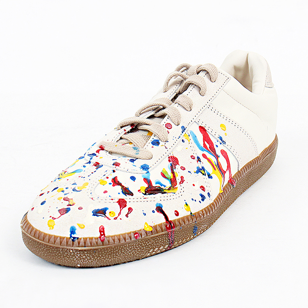 Vintage Multi Color Painting Leather Sneakers 102