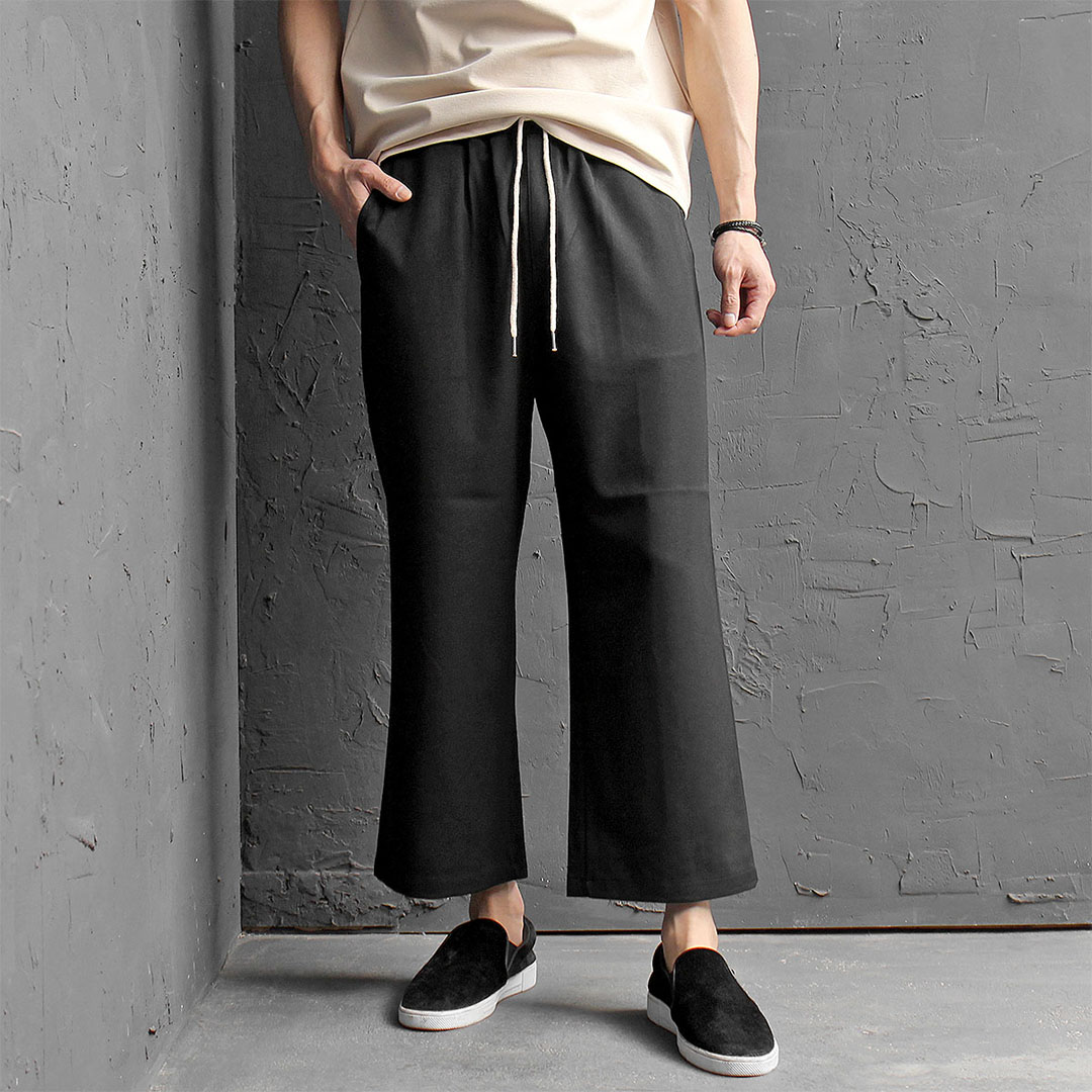 Elastic Waist Low Crotch Wide Baggy Sweatpants 414