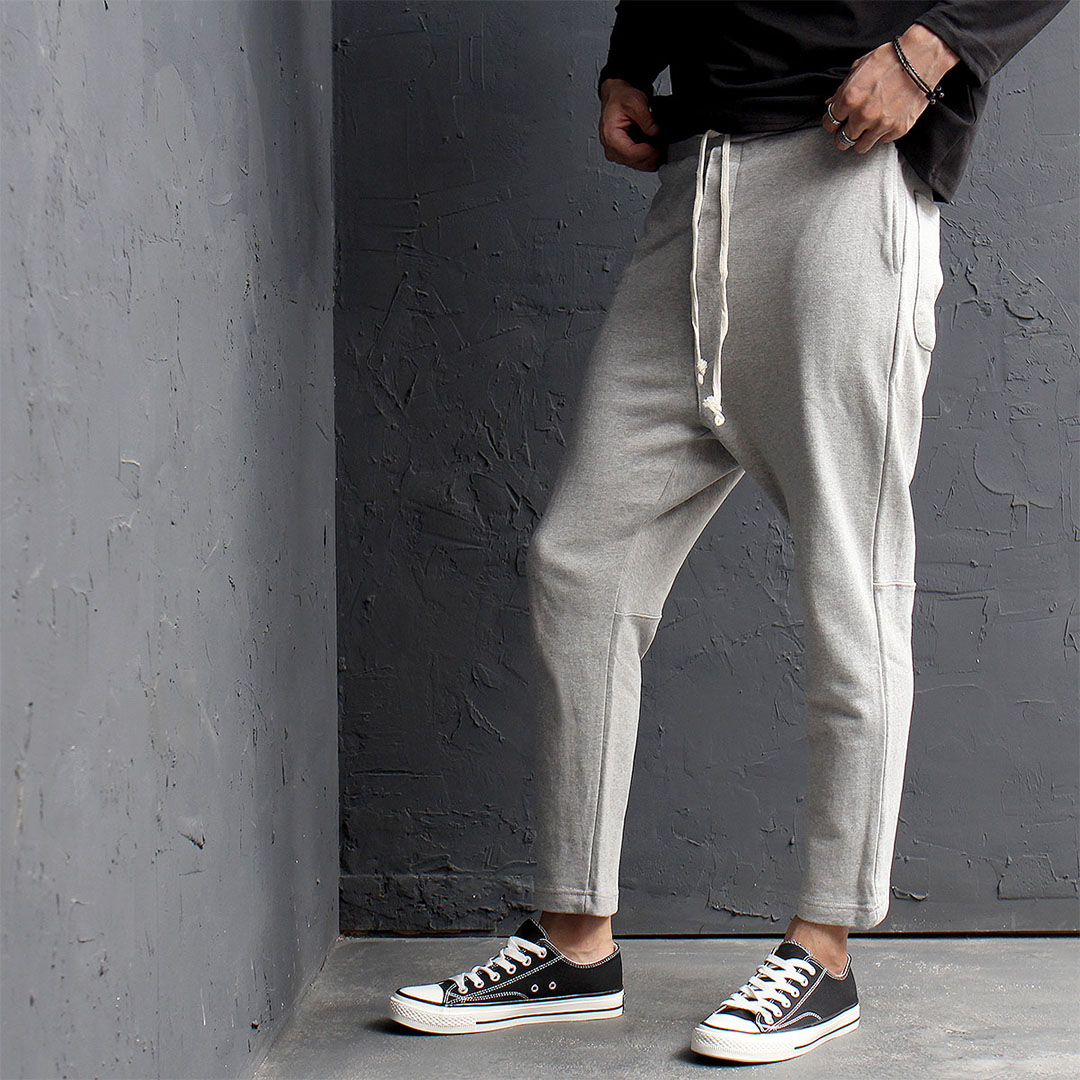 Slim Fit Drop Crotch Baggy Sweatpants 531