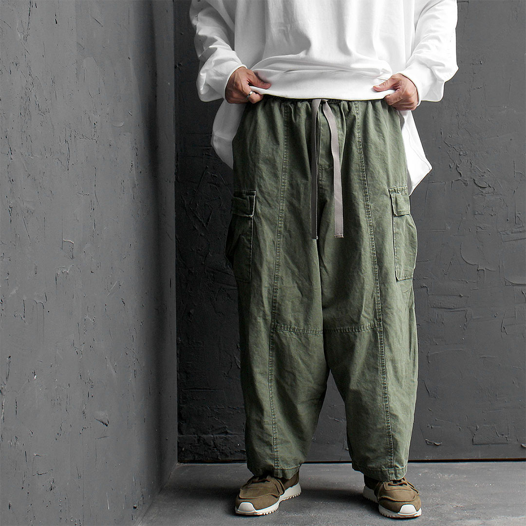 Oversized Wide Vintage Cargo Pocket Balloon Pants 576