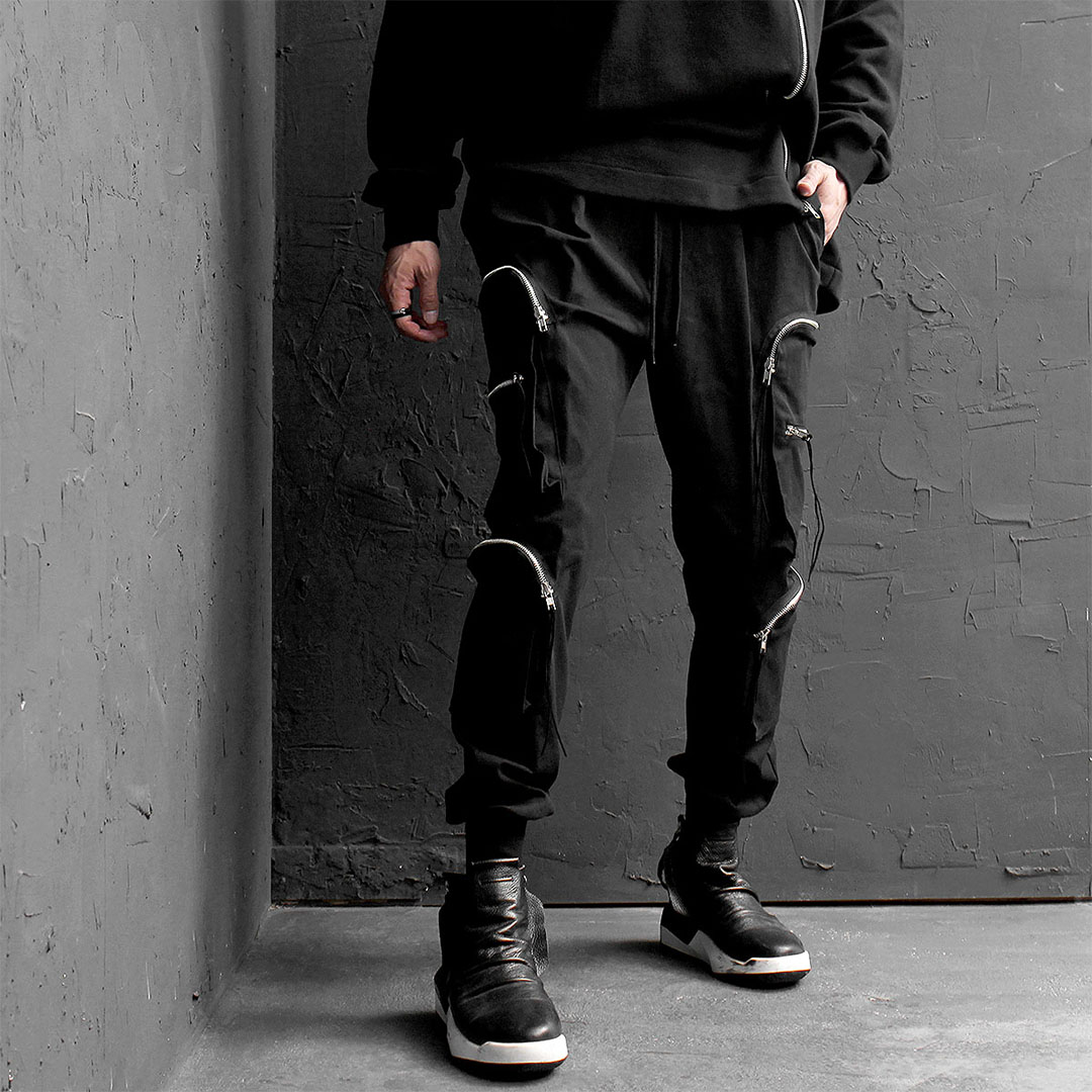 Techwear Zipper Double Cargo Pocket Joggers 632