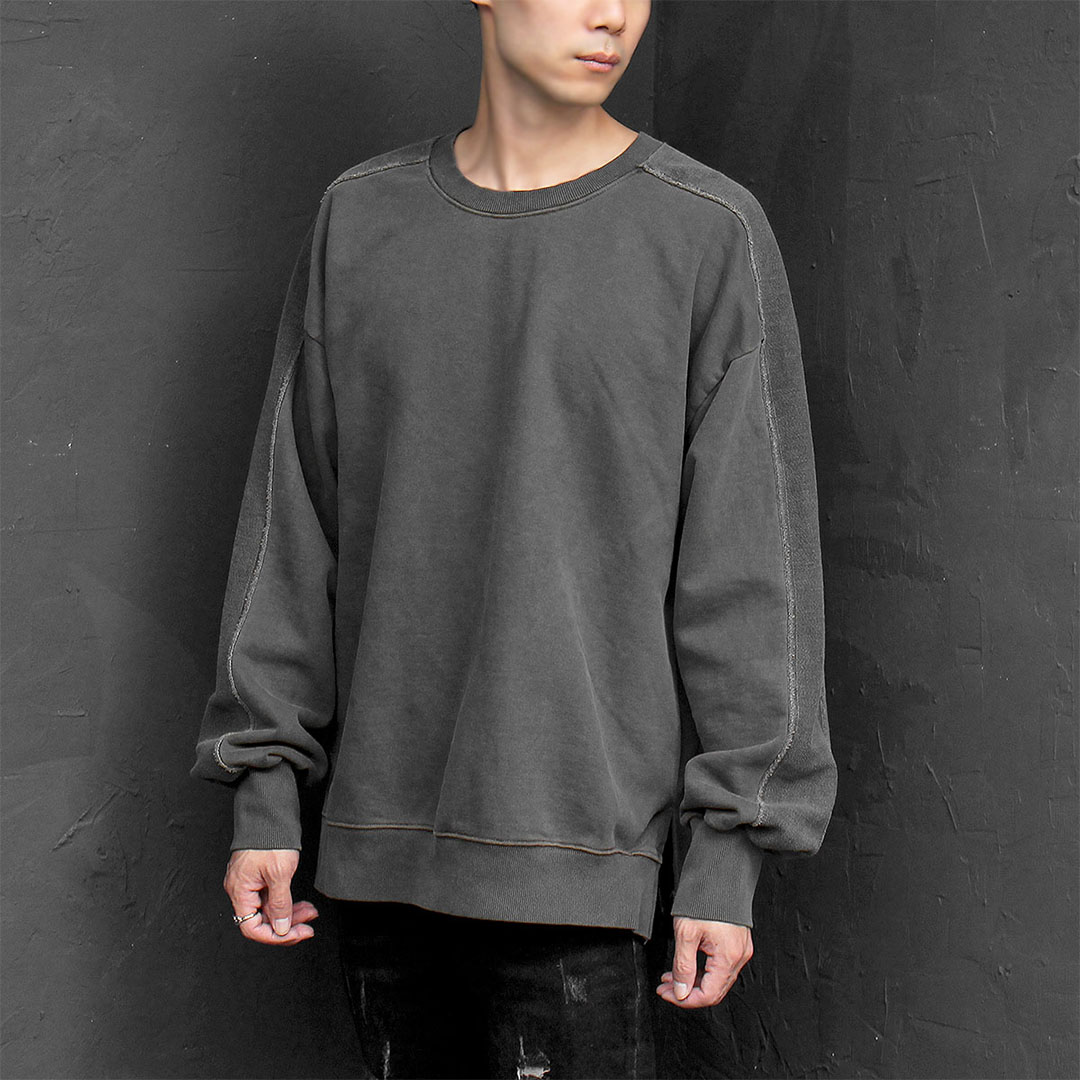 Reversed Pigment Washed Split Side Sweatshirt 699