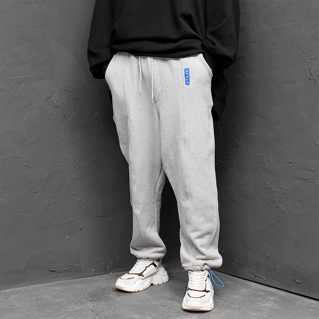 Oversized Low Crotch Drawstring Hem Baggy Sweatpants 669