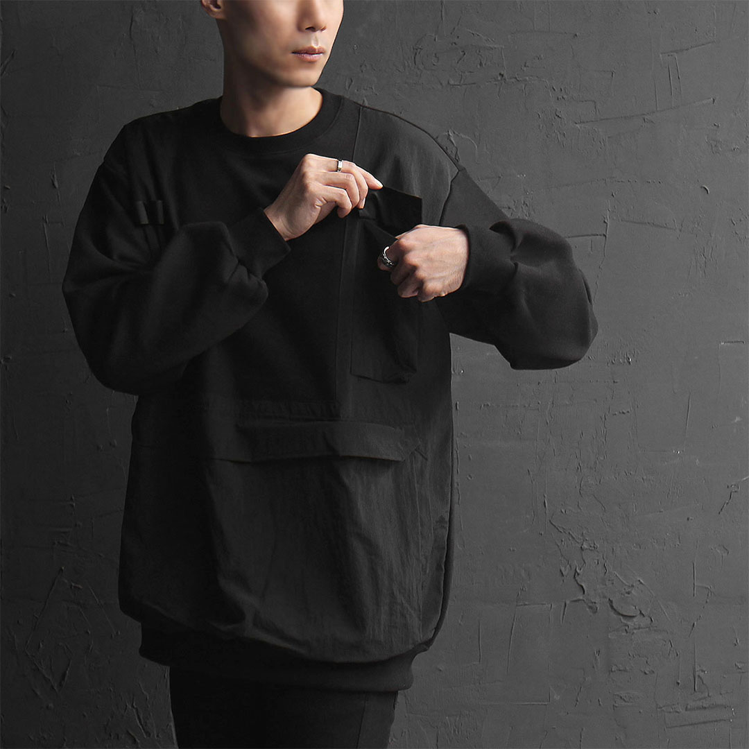 Techwear Multi-Pocket Sweatshirt 725