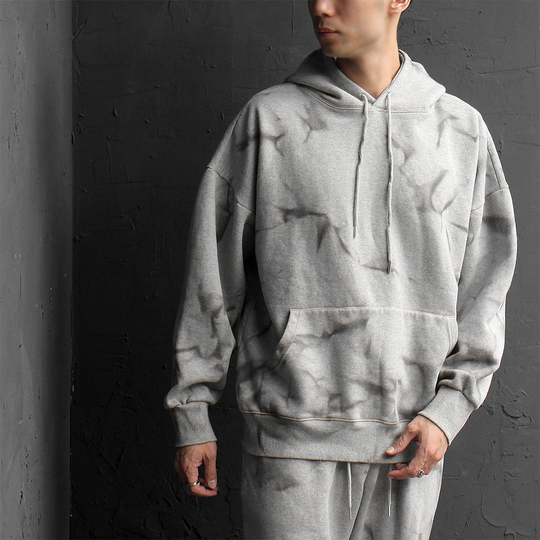 Crack Washing Fleecy Interior Hoodie 738