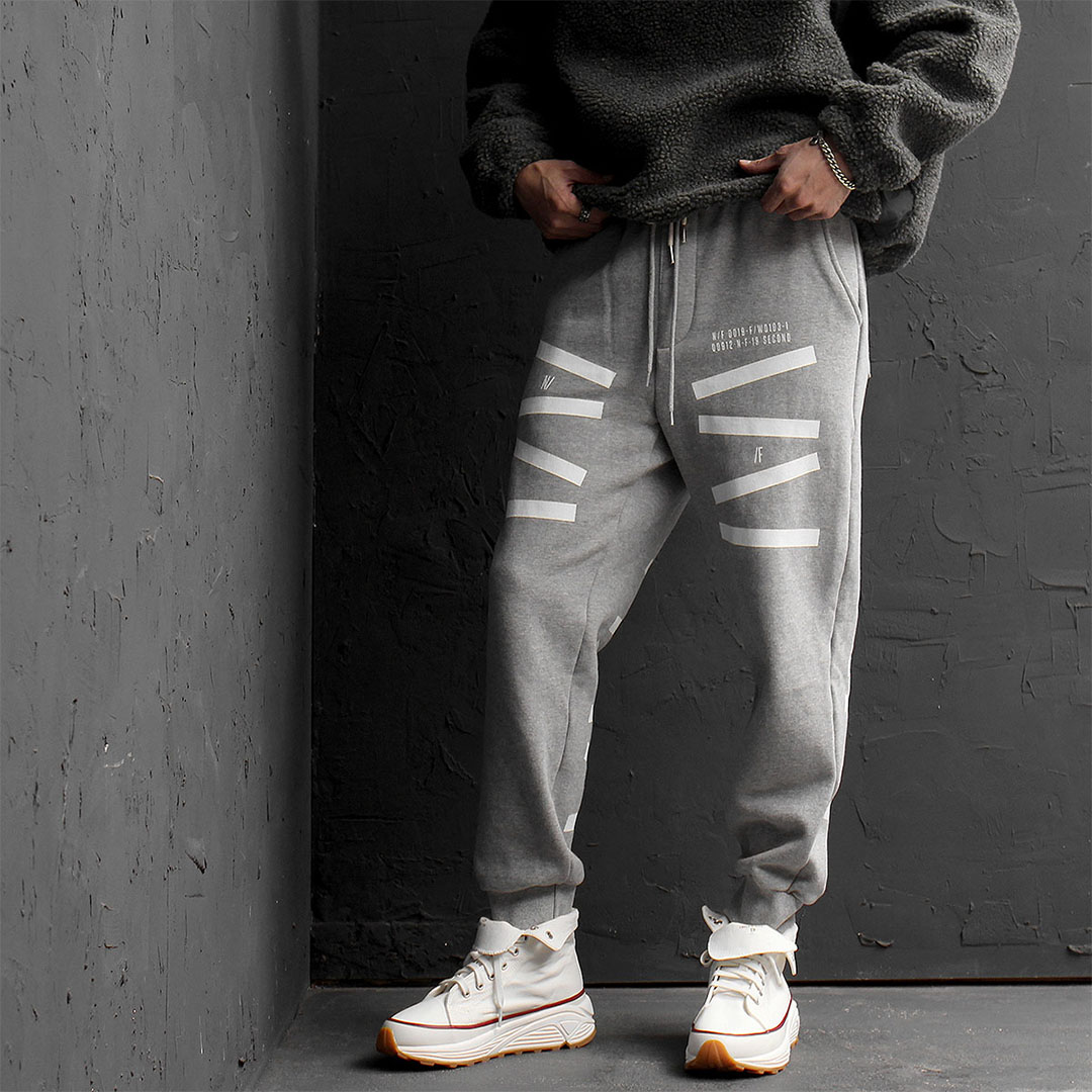 Graphic Printing Interior Fleecy Jogger Pants 750