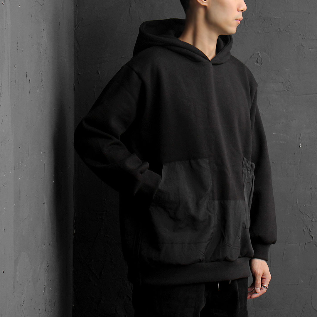 Unbalanced Pocket Split Side Zipper Hoodie 815