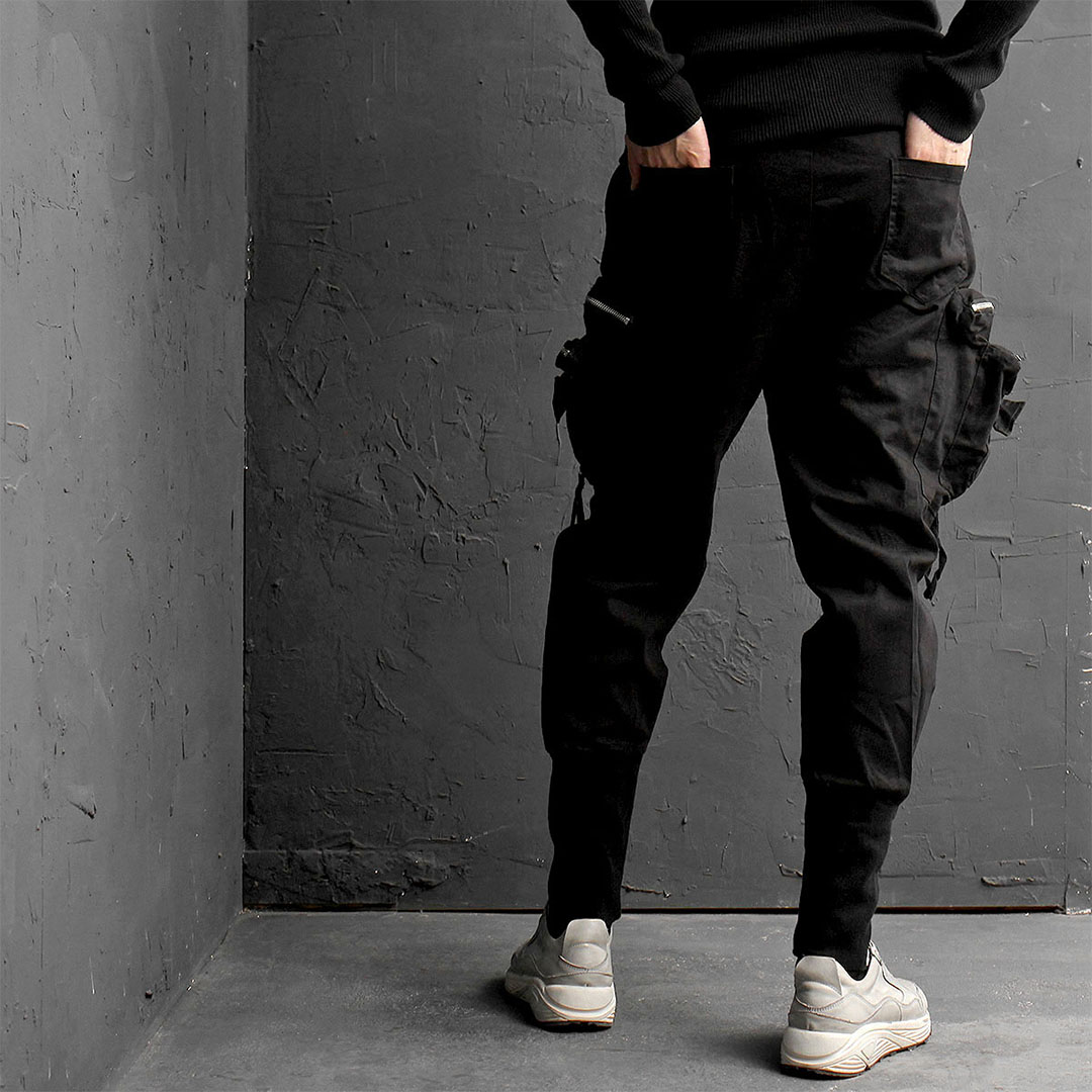 Double Zipper Cargo Pocket Jogger Pants 830