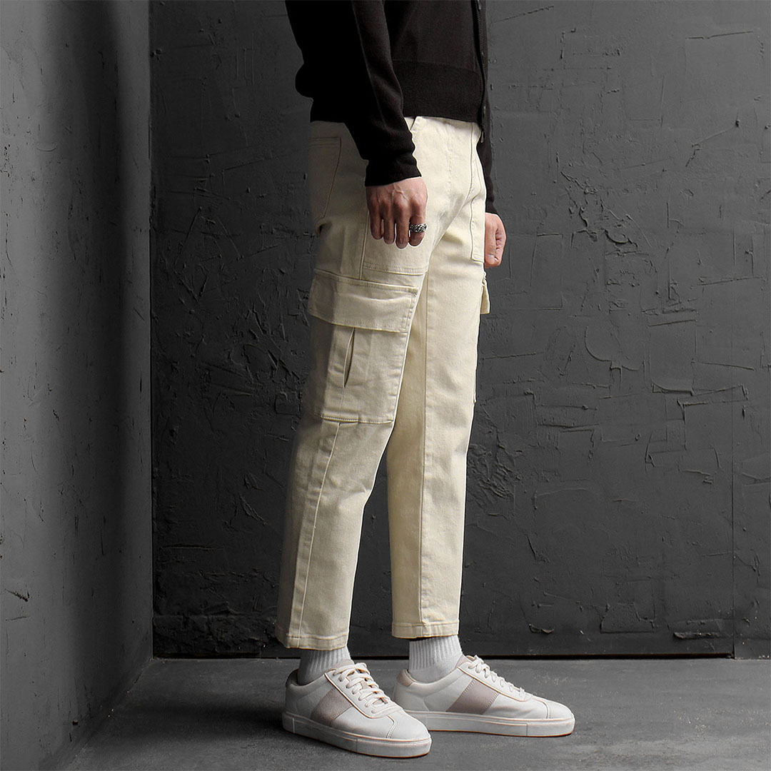 Slim Fit Straight Cargo Pocket Pants 855