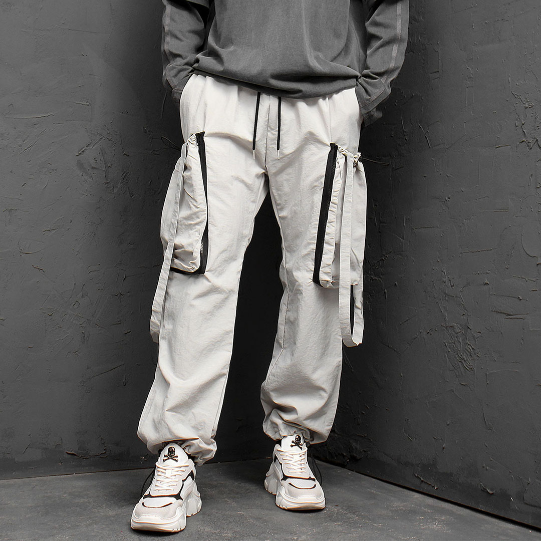 Tech Wear Look Cargo Strap Sweatpants 949