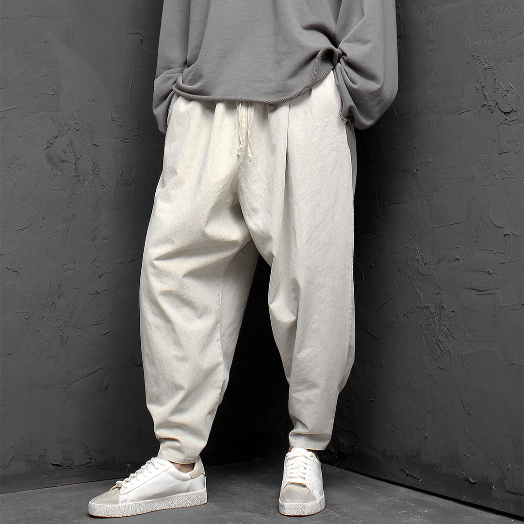 Oversized Loose Fit Pigment Washed Wide Baggy Pants 944