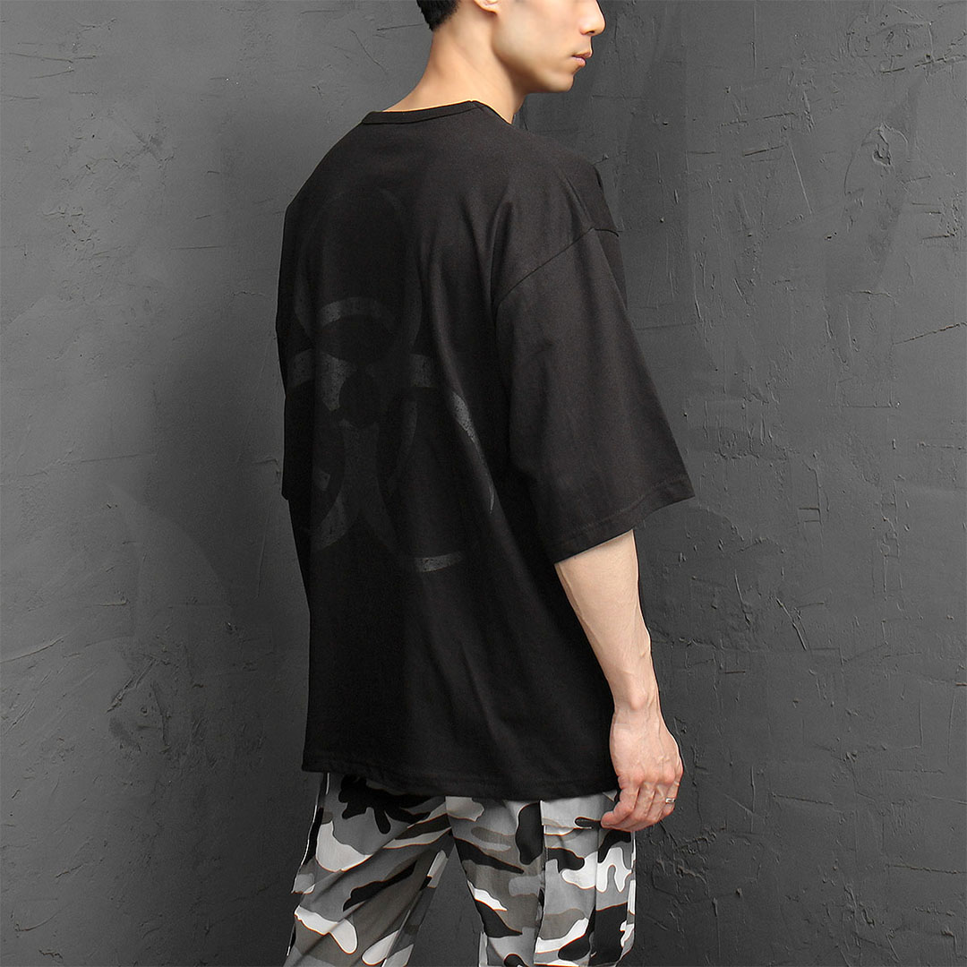 Loose Fit Back Crack Logo Printing Tee 1089