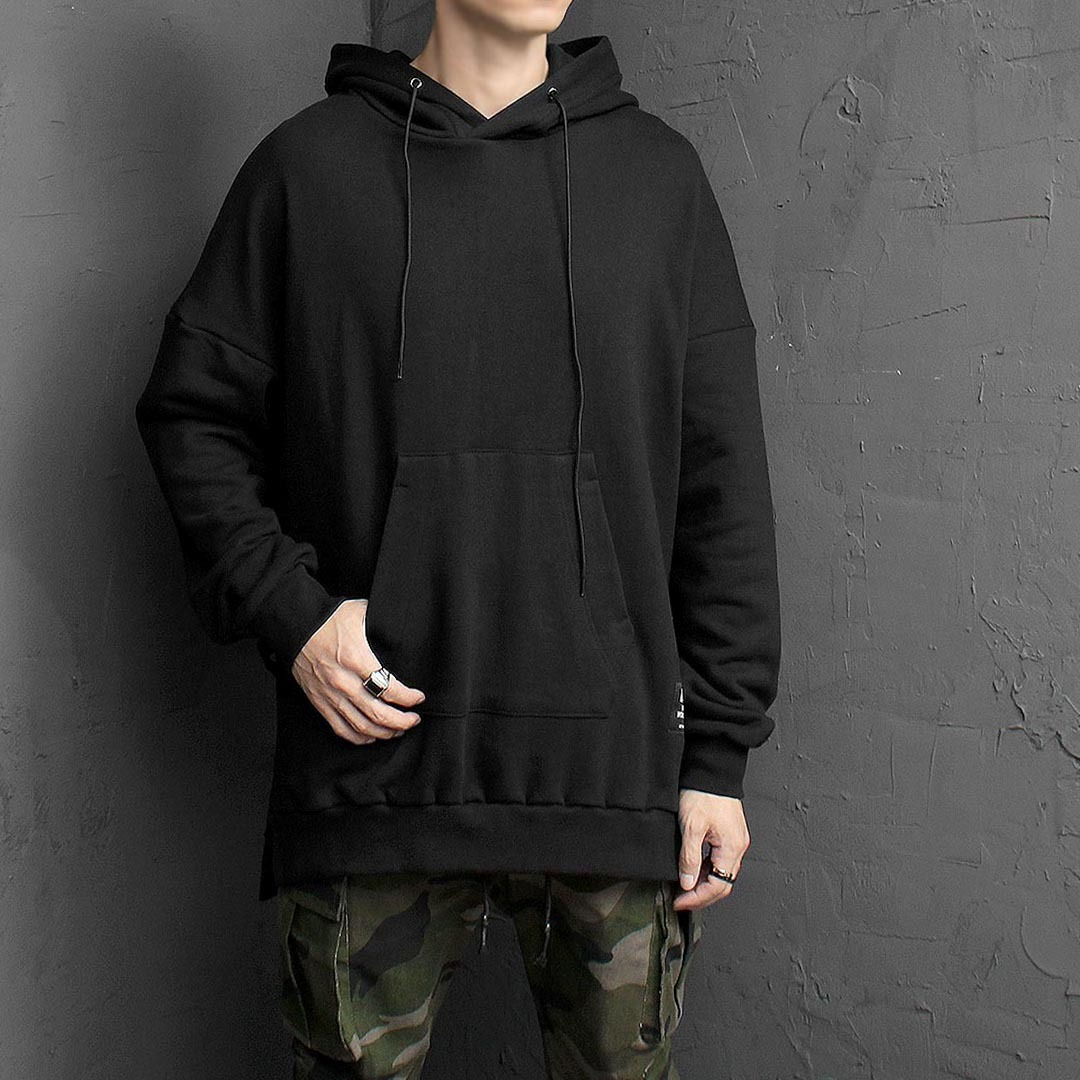 Back Triangle Webbing Strap Hoodie 1455