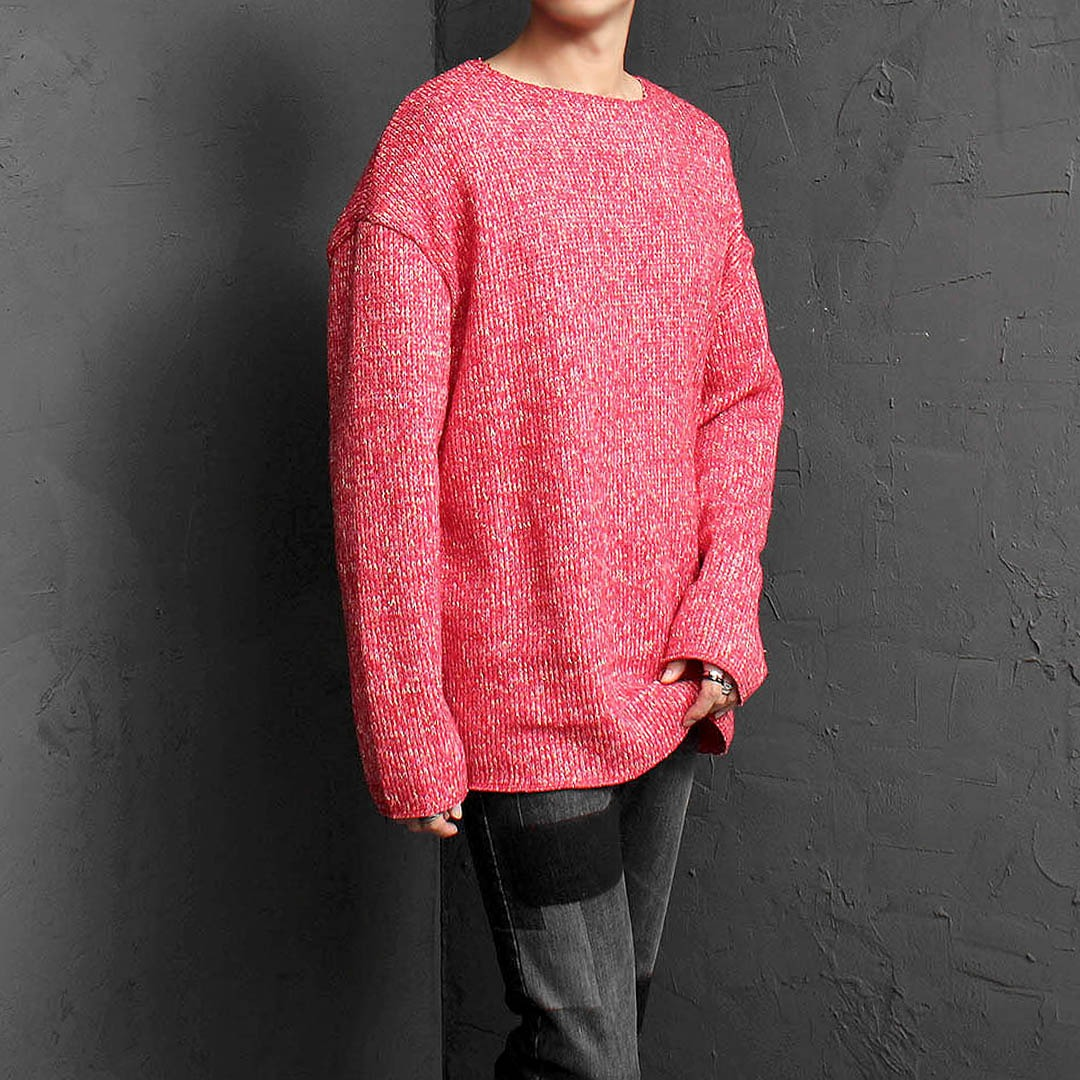 Loose Fit Wide Shoulder Knit Jumper 1555