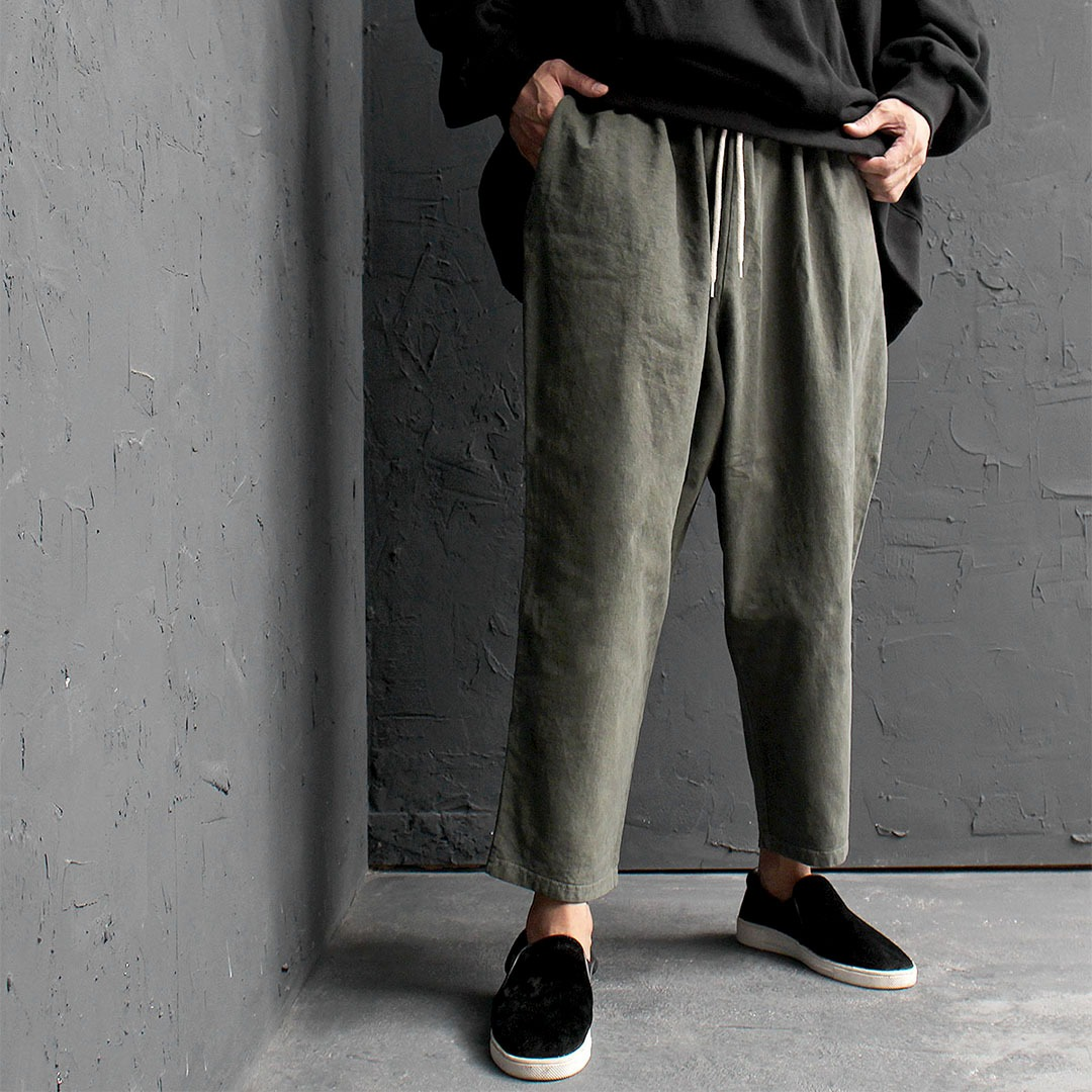 Oversized Loose Fit Pigment Washed Wide Baggy Pants 578