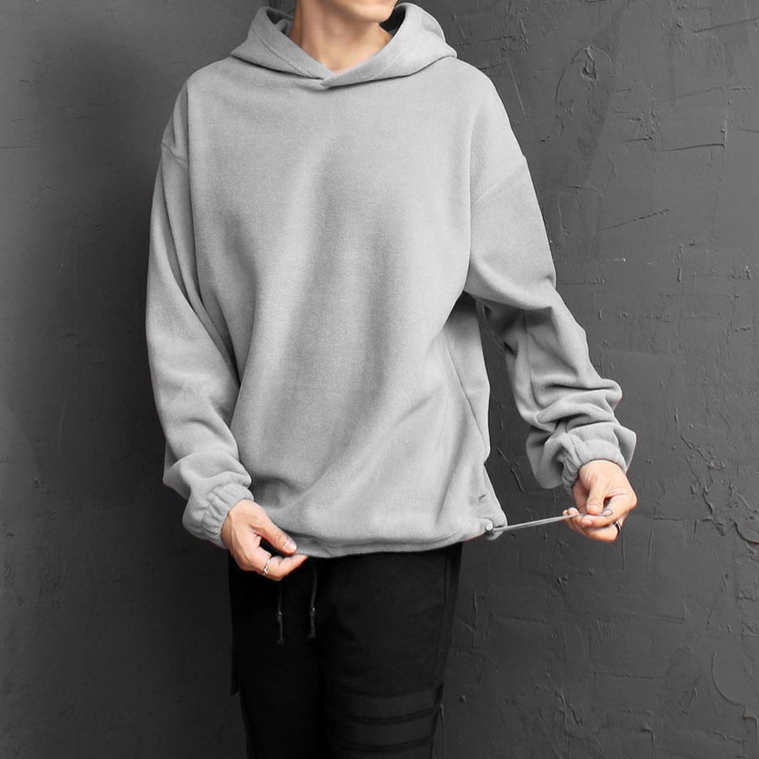 Over sized Fit Fleece Drawstring Hoodie 1522